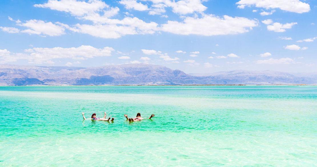 Relaxing in the Dead Sea